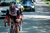 Fernando Gaviria (COL/UAE) bringing Marc Hirschi (SUI/UAE) back to the peloton after a mechanical<br /> <br /> 17th Benelux Tour 2021<br /> Stage 5 from Riemst to Bilzen (BEL/192km)<br /> <br /> ©kramon