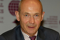 Pascal Lamy, Director General of the World Trade Organization,<br /> adress the medias  at the  12th International Economic Forum of the Americas<br />                            Conference of Montreal
