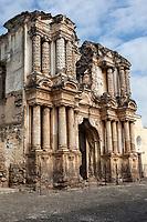 Antigua, Guatemala.  Ruins of Facade of El Carmen Church and Convent.