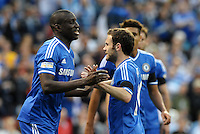 Chelsea players celebrate Demba Ba's goal..Manchester City defeated Chelsea 4-3 in an international friendly at Busch Stadium, St Louis, Missouri.