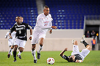 Tristan Watson (22) of the Cincinnati Bearcats. The Providence Friars defeated the Cincinnati Bearcats 2-1 during the semi-finals of the Big East Men's Soccer Championship at Red Bull Arena in Harrison, NJ, on November 12, 2010.