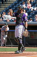Akron Aeros David Wallace during an Eastern League game at Canal Park on April 15, 2006 in Akron, Ohio.  (Mike Janes/Four Seam Images)