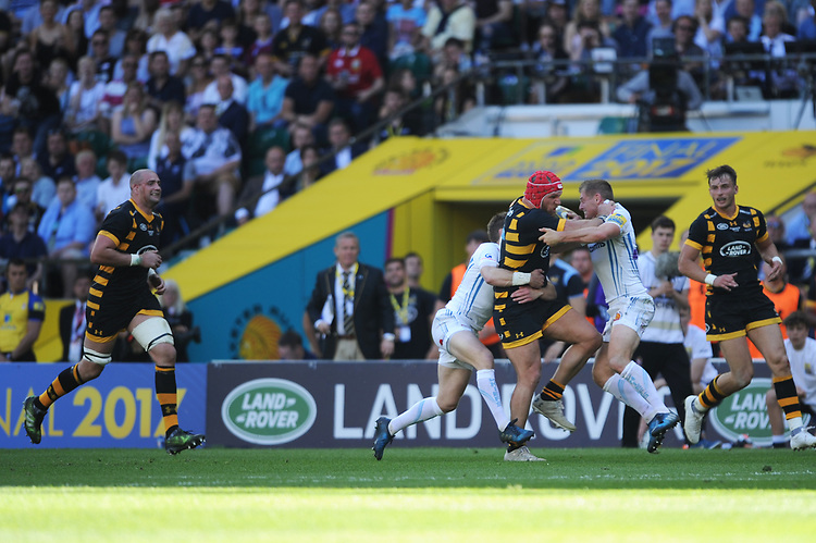 James Haskell of Wasps in action during the Premiership Rugby Final at Twickenham Stadium on Saturday 27th May 2017 (Photo by Rob Munro)