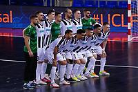 9th October 2020; Palau Blaugrana, Barcelona, Catalonia, Spain; UEFA Futsal Champions League Finals; Mrucia FS versus MFK Tyumen;  The Tyumen team line up for team picture