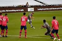 ST PAUL, MN - SEPTEMBER 9: Emanuel Reynoso #10 of Minnesota United FC takes a free kick during a game between FC Dallas and Minnesota United FC at Allianz Field on September 9, 2020 in St Paul, Minnesota.