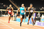 Renny Quow wins the men's 500 yard dash at the first U.S. Open on January 29, 2012 at Madison Square Garden in New York, New York.  (Bob Mayberger/Eclipse Sportswire)