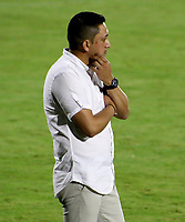 BARRANQUILLA-COLOMBIA, 07-10-2020: Diego Corredor, tecnico de Deportivo Pasto durante partido entre Atletico Junior y Deportivo Pasto, de la fecha 12 por la Liga BetPlay DIMAYOR 2020-I jugado en el estadio Romelio Martinez de la ciudad de Barranquilla. / Diego Corredor, coach of Deportivo Pasto  during a match between Atletico Junior and Deportivo Pasto, of the 12th date for the BetPlay DIMAYOR Leguaje 2020-I played at the Romelio Martinez Stadium in Barranquilla city. / Photo: VizzorImage / Jairo Cassiani / Cont.