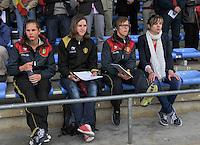 Belgium A - North Korea friendly game at Koksijde KVV Stadium - Belgie - Noord Korea : .Sabrina  Broos (2de links) , Lorca Van de Putte (rechts) , .foto David Catry / Joke Vuylsteke / Vrouwenteam.be