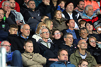 Pictured: Swansea supporters Monday 15 May 2017<br />Re: Premier League Cup Final, Swansea City FC U23 v Reading U23 at the Liberty Stadium, Wales, UK