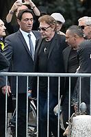 Johnny HALLYDAY - ObsËques de MIREILLE DARC en l'Èglise Saint-Sulpice - 01/09/2017 - Paris, France