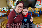 Jacob Macik-Noctor with his nan Hana Braslickova at the Grandparents Day in Listellick NS on Friday.
