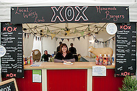 Thursday  29 May 2014, Hay on Wye, UK<br /> Pictured: Tracy at the xox food bar<br /> Re: Food at the The Hay Festival, Hay on Wye, Powys, Wales UK.