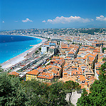 France, Côte d'Azur, Nice: View over Rooftops of Town | Frankreich, Côte d'Azur, Nizza: Stadtansicht