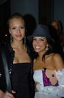 MIAMI BEACH, FL - DECEMBER 31: (EXCLUSIVE COVERAGE) Eva Longoria and Jessica Alba on New Years Eve 2005 at The Forge Restaurant on December 31, 2004 in Miami Beach, Florida<br /> <br /> People:  Eva Longoria_J.C. Chasez