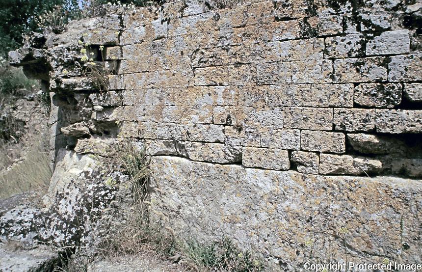 Masonry detail, Pont du Gard aqueduct,  Vers-Pont-du-Gard, France