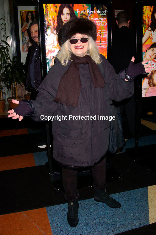 Sylvia Miles..at the New York Premiere of The Dreamers on February 3, 2004 at the Beekman theatre. Photo by Robin Platzer, Twin ..Images