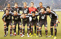 CARSON, CA – SEPTEMBER 10: DC United starting lineup at Home Depot Center, September 10, 2010 in Carson California.
