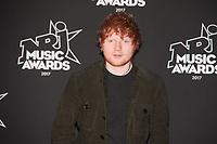 Ed Sheeran sur le Tapis Rouge / Red Carpet avant la Ceremonie des 19 EME NRJ MUSIC AWARDS 2017, Palais des Festivals et des Congres, Cannes Sud de la France, samedi 4 novembre 2017.