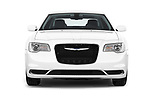 Car photography straight front view of a 2017 Chrysler 300 Limited 4 Door Sedan Front View