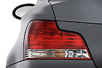 Tail light close up detail view of a 2007 - 2011 BMW 1-Series 135i convertible.