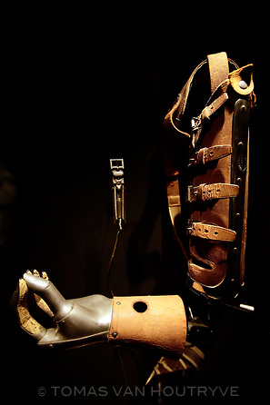 A WWI prosthetic is seen inside the Musee de la Grande Guerre, or the Great War Museum, in Meaux, France on Nov. 10, 2011.