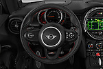 Car pictures of steering wheel view of a 2019 MINI Hardtop-2-Door John-Cooper-Works-Iconic 5 Door Hatchback Steering Wheel