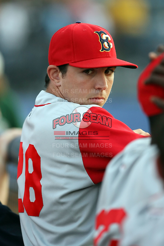 July 11th 2008:  Pitcher Jim Fuller (28) of the Brooklyn Cyclones, Class-A affiliate of the NY Mets, during a game at Russell Diethrick Park in Jamestown, NY.  Photo by:  Mike Janes/Four Seam Images