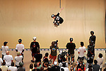 Shaun White competes in the Men's Skateboarding Vert finals at the Staples Center during X-Games 12 in Los Angeles, California on August 3, 2006.