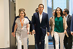 (From left to right) Marta Rivera, Albert Rivera and Ines Arrimadas arrives to Ciudadanos General Council. July 29, 2019. (ALTERPHOTOS/Francis González)