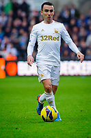 Sunday, 23 November 2012<br /> <br /> Pictured: Leon Britain of Swansea City<br /> <br /> Re: Barclays Premier League, Swansea City FC v Manchester United at the Liberty Stadium, south Wales.