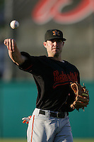 May 26, 2010: Davis Stoneburner of the Bakersfield Blaze during game against the Inland Empire 66'ers at Arrowhead Credit Union Park in San Bernardino,CA.  Photo by Larry Goren/Four Seam Images