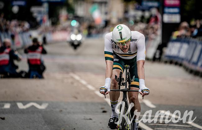 Luke Durbridge (AUS/Mitchelton-Scott) post-race<br /> <br /> Elite Men Individual Time Trial<br /> from Northhallerton to Harrogate (54km)<br /> <br /> 2019 Road World Championships Yorkshire (GBR)<br /> <br /> ©kramon