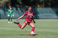 STANFORD, CA - SEPTEMBER 12: Avani Brandt during a game between Loyola Marymount University and Stanford University at Cagan Stadium on September 12, 2021 in Stanford, California.