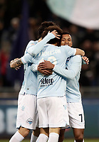Calcio, Serie A: Lazio - Udinese, Roma, stadio Olimpico, 24 gennaio 2018.<br /> Lazio's Luis Carlos Nani (r) celebrates after scoring with his teammates during the Italian Serie A football match between Lazio and Udinese at Rome's Olympic stadium, January 24, 2018.<br /> UPDATE IMAGES PRESS/Isabella Bonotto