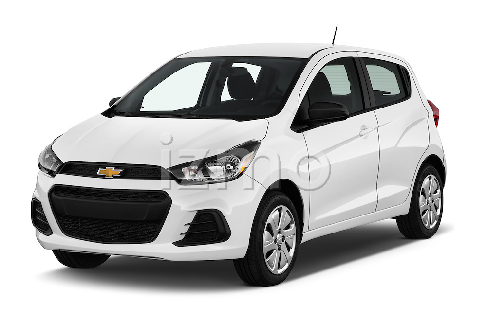 2016 Chevrolet Spark LS Manual 1SA 5 Door Hatchback Angular Front stock photos of front three quarter view