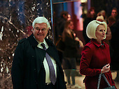 Former Speaker of the United States House of Representatives Newt Gingrich (Republican of Georgia) arrives with his wife, Callista, for a meeting with US President-elect Donald Trump, in the Trump Tower, November 21, 2016, in New York, New York.<br /> Credit: Aude Guerrucci / Pool via CNP