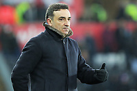 Swansea manager Carlos Carvalhal reacts on the touch line during the Premier League match between Swansea City and West Ham United at The Liberty Stadium, Swansea, Wales, UK. Saturday 03 March 2018