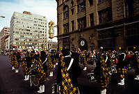 Defile Saint-Patrick, le 18 mars 1979  sur la rue Sainte-Catherine<br /> <br /> PHOTO :   Agence Quebec Presse