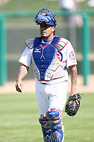February 29, 2008:  Henry Blanco of the Chicago Cubs at Hohokam Park during spring training in Mesa, AZ. Photo by:  Chris Proctor/Four Seam Images