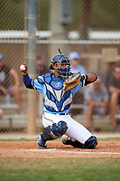 Kameron Ojeda (27) while playing for GBG Marucci based out of Los Angeles, California during the WWBA World Championship at the Roger Dean Complex on October 22, 2017 in Jupiter, Florida.  Kameron Ojeda is a catcher / outfielder from La Mirada, California who attends St. John Bosco High School.  (Mike Janes/Four Seam Images)