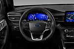 Car pictures of steering wheel view of a 2020 Ford Explorer ST 5 Door SUV Steering Wheel