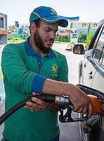 Essaouira, Morocco.  Gas Station Attendant.