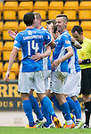 St Johnstone v Stirling Albion…30.07.16  McDiarmid Park. Betfred Cup<br />Steven Anderson celebrates his goal with Joe Shaughnessy<br />Picture by Graeme Hart.<br />Copyright Perthshire Picture Agency<br />Tel: 01738 623350  Mobile: 07990 594431