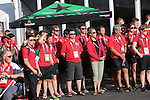 Glasgow 2014 Commonwealth Games<br /> Flag raising ceremony to welcomes Team Wales to the athletes village.<br /> 21.07.14<br /> ©Steve Pope-SPORTINGWALES