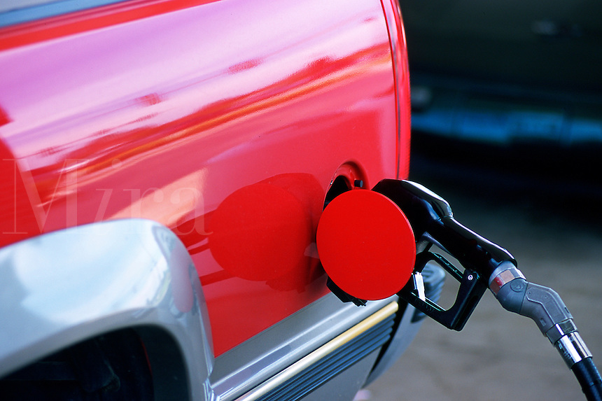 SUV fueling up