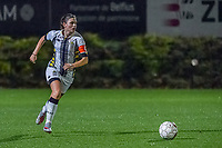 Charleroi defender Noemie Fourdin (11) pictured during a female soccer game between Sporting Charleroi and KRC Genk Ladies on the 9th matchday of the 2020 - 2021 season of Belgian Scooore Womens Super League , friday 11 th of December 2020  in Marcinelle , Belgium . PHOTO SPORTPIX.BE | SPP | STIJN AUDOOREN
