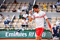 Novak DJOKOVIC of Serbia celebrates during the ninth round of Roland Garros tennis open at Roland Garros in Paris, France on Friday, 11 June, 2021. Photo by Baptiste Fernandez / Icon Sport