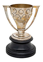 BNPS.co.uk (01202 558833)<br /> Pic: Julien'sAuctions/BNPS<br /> <br /> Pictured: Alfredo Di Stefano 1963 Real Madrid Spanish League Champions Reproduction Trophy.<br /> <br /> An epic collection of medals, trophies, shirts and personal items relating to footballing legend Alfredo Di Stefano is being sold by his family for over £1m.<br /> <br /> Many of the awards won by the great goalscorer have, until recently, been on display at the Real Madrid Museum, the club where he played for most of his career.<br /> <br /> The Argentine-born striker is regarded as one of the best players of all-time and is often compared to Cristiano Ronaldo.<br /> <br /> During Di Stafano's time with Real Madrid in the 1950s and '60s, the Spanish giants dominated European football, largely due to his goals and assists.