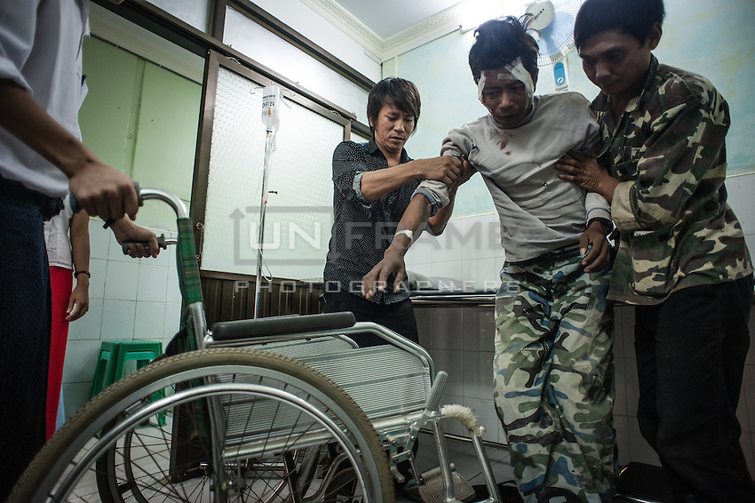 Considering harsh traffic and cheap alcohol, motorbike crashes are one of the most frequent reasons for hospitalization. If you stay for a while in a main hall of Yangon Central Hospital during the rush hour, you can whiteness people being brought in at least every fifteen minutes.<br /> Immediate professional care is very important in this case, but regretfully, not always comes in time.
