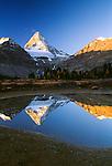 Mount Assiniboine reflection, Assiniboine Provincial Park, British Columbia, Canada